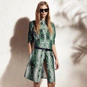 Derek Lam for Design Nation Shirt Dress Green L
